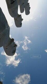 空,夕日,屋外,太陽,雲,夕暮れ,北海道,旅行,モアイ,モアイ像,車両,イメージ,クラウド,真駒内,雲の動き,動く雲