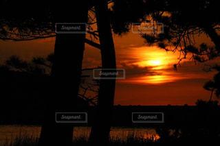 海,夕日,赤,海岸,竹野海岸
