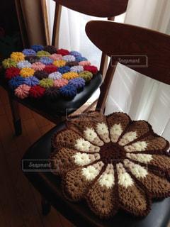 インテリア,カラフル,椅子,座布団,手編み