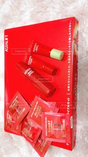 赤い化粧品の写真・画像素材[763454]