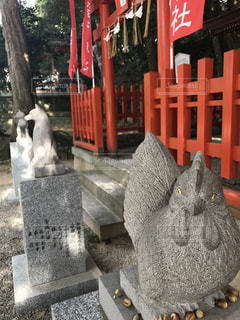 猫の像の写真・画像素材[1020716]