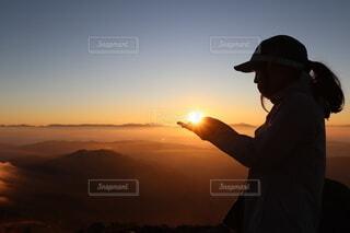 空,屋外,朝日,山,正月,お正月,日の出,新年,初日の出