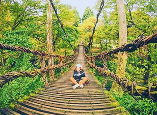 命がけの橋の写真・画像素材[921039]