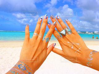 海,ネイル,ビーチ,旅行,グアム,ジェルネイル,夏ネイル,ネイルデザイン,トロピカルネイル