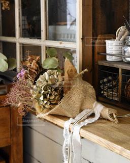 ドライフラワーの花束の写真・画像素材[3143117]