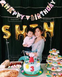 ケーキ,誕生日,3歳