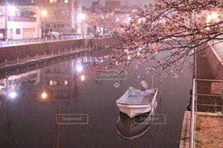 夜,夜景,千葉,千葉県,浦安,境川,漁師町,べか船,浦安市,小さな川