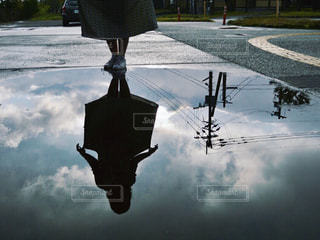 雨上がりの水たまりの写真・画像素材[811900]