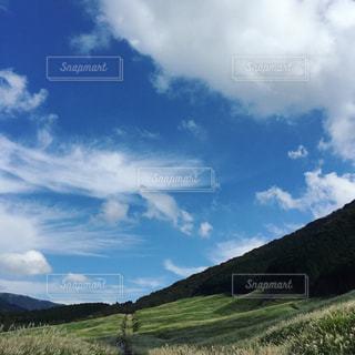 近くの丘の中腹のアップの写真・画像素材[1100281]