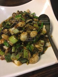 台湾 青葉 牡蠣のもろみ炒めの写真・画像素材[813897]