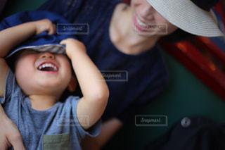 親子の会話の写真・画像素材[1374583]