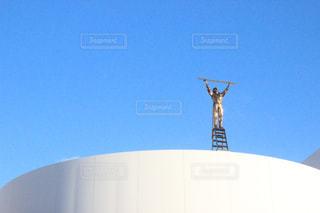 大きな白い建物の写真・画像素材[1099631]