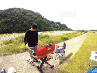 バイクに座っている男の写真・画像素材[1203976]