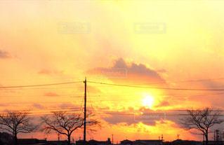 空,夕日,夕陽