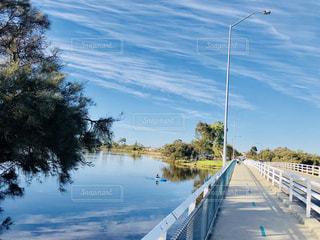 青空、ボートの写真・画像素材[1425585]