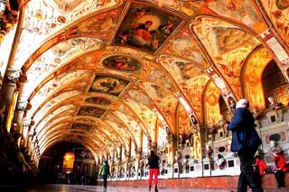 風景,建物,海外,景色,旅行,絵画,教会,ドイツ,ミュンヘン,海外旅行