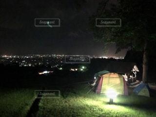 夜の街の眺めの写真・画像素材[2367805]