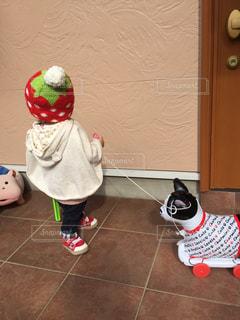 帽子,散歩,子供,人物,人,可愛い,もこもこ,寒さ対策