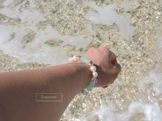 海,夏,沖縄,ブレスレット,旅行,パワーストーン