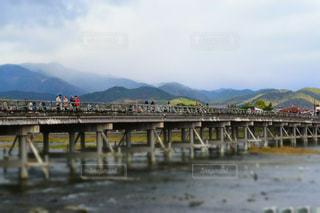 京都,川,ミニチュア,観光,旅行,渡月橋