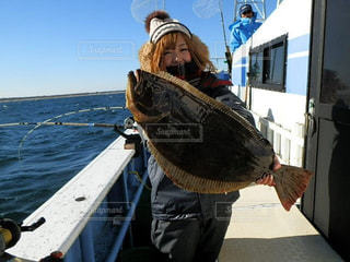 女性,20代,海,釣り,ヒラメ,楽しい!