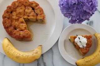 食べ物,ケーキ,デザート,皿,おいしい,おうちカフェ,バナナ,おうち時間