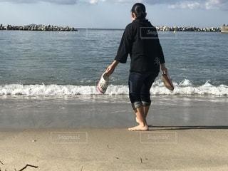 海,屋外,波,和歌山県,片男波海水浴場
