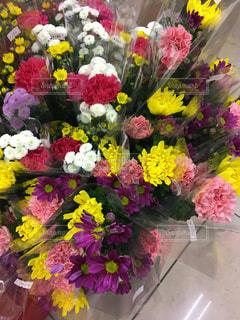 お墓参り用のお花の写真・画像素材[1069102]