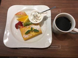 私のカフェ朝ごはん♫の写真・画像素材[2484844]