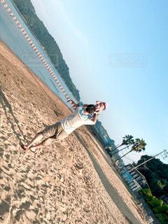 夏の海水浴場とちっちゃい夏のお嬢さん♡の写真・画像素材[1392060]
