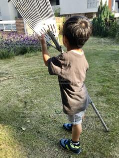 庭掃除お手伝い♪の写真・画像素材[1489037]
