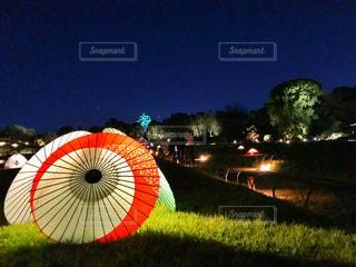 岡山後楽園のライトアップの写真・画像素材[1682952]