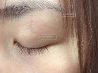 まつ毛のアップの写真・画像素材[1772715]