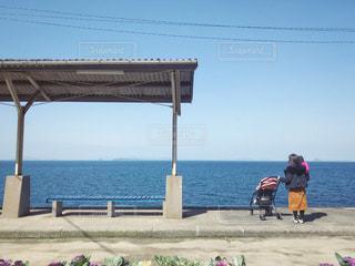 下灘駅とベビーカーの写真・画像素材[1838049]