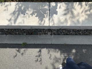 屋外,晴れ,足元,散歩,影,木漏れ日,コンクリート,レジャー,お散歩,ライフスタイル,おでかけ,シャドウ,晴れの日,履物