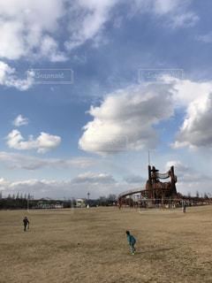 空,遊ぶ,広い,岡山市,浦安公園