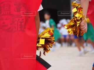 運動会緊張の踊りの写真・画像素材[764258]