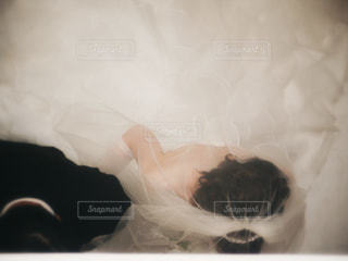 結婚式入場前の父娘 - No.824824