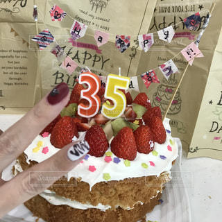 手作り誕生日ケーキ♡の写真・画像素材[841181]