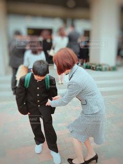 入学式の春コーデの写真・画像素材[1124335]