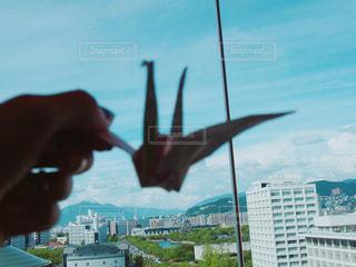 おりづると広島市街、平成最後夏の思い出の写真・画像素材[1424318]
