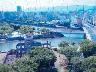 夏の祈り、原爆ドームの写真・画像素材[1424337]