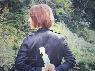 公園と私とヘアウォーターの写真・画像素材[1585370]