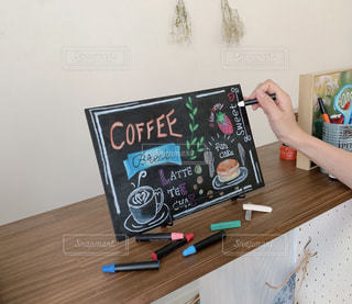 オリジナルカフェ風黒板アートの写真・画像素材[2160687]