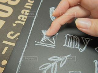 チョークを指でぼかすの写真・画像素材[2172207]