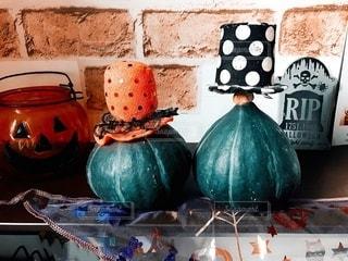 ハロウィンかぼちゃとハットの写真・画像素材[2654606]