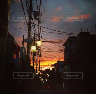 夜,夕焼け,街,神奈川,多摩川,新丸子,小杉町,小杉陣屋町