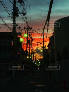 夕日,夜,夕焼け,商店街,神奈川,多摩川,新丸子