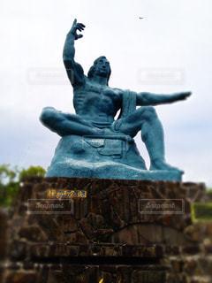 風景,空,屋外,旅行,日本,平和,石,歴史,長崎,石垣,平和祈念像