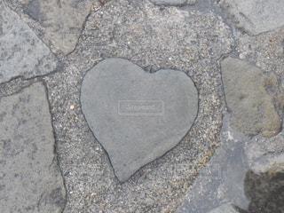 グラバー園のハートの石の写真・画像素材[854763]